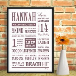 Personalised Named Memory Print